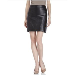 French Connection Black Leather Skirt